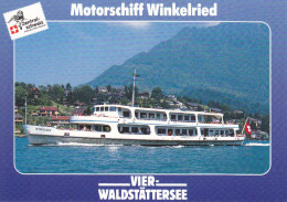 Ak Vierwaldstättersee, Motorschiff Winkelried - Fähren