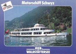 Ak Vierwaldstättersee, Motorschiff Schwyz - Fähren