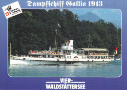 Ak Vierwaldstättersee, Dampfschiff Gallia 1913 - Fähren