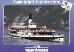 Ak Vierwaldstättersee, Dampfschiff Schiller 1906 - Ferries
