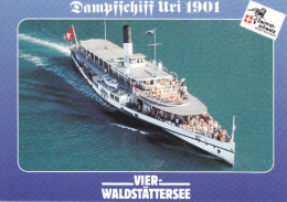Ak Vierwaldstättersee, Dampfschiff Uri 1901 - Fähren