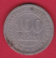 Brésil - 100 Reis  - Argent - 1885 - Brazil
