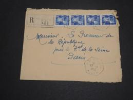 ALGERIE – Env Recommandée Pour La France – Détaillons Petite Archive - A Voir – Lot N° 18964 - Algérie (1924-1962)