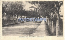 58282 ITALY RIVAROLO NEL CANAVESE TURIN THE EMBANKMENT CIRCULATED TO ARGENTINA POSTAL POSTCARD - Zonder Classificatie