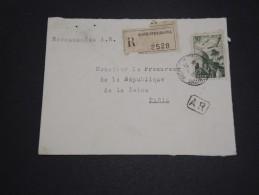 ALGERIE – Env Recommandée Pour La France – Détaillons Petite Archive - A Voir – Lot N° 18966 - Algérie (1924-1962)