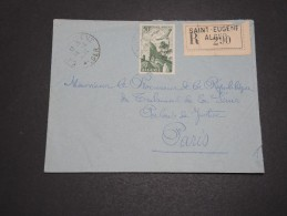 ALGERIE – Env Recommandée Pour La France – Détaillons Petite Archive - A Voir – Lot N° 18970 - Algérie (1924-1962)