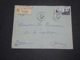 ALGERIE – Env Recommandée Pour La France – Détaillons Petite Archive - A Voir – Lot N° 18973 - Algérie (1924-1962)