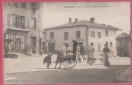 42 - BELMONT--Coté De La Place Du Marché--Café-Boulangerie---animé - Belmont De La Loire