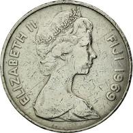 Fiji, Elizabeth II, 20 Cents, 1969, TTB, Copper-nickel, KM:31 - Fidji