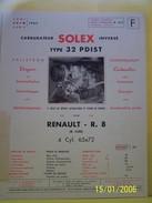 PLANCHE TECHNIQUE. SOLEX.    100_2632CPLTMELU. - Machines