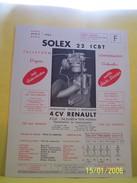 PLANCHE TECHNIQUE. SOLEX.    100_2638CPLTMELU. - Machines