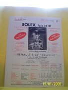 PLANCHE TECHNIQUE. SOLEX.    100_2639CPLTMELU. - Machines