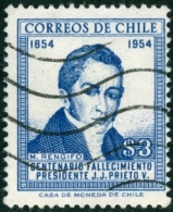 CILE, CHILE, COMMEMORATIVO, MANUEL RENGIFO, 1955, FRANCOBOLLO USATO, Scott 290 - Cile