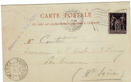Carte Postale Cachet   Exposition Universelle De Paris   Sommet De La Tour Eiffel - Postmark Collection (Covers)