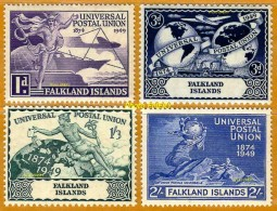 Falkland Islands **LUXE 1949 P 97 à 100 Série 4v - Falkland Islands