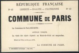 Mont De Piété - 18 Mars - 28 Mai 1871 - Crédit Municipal - París La Noche