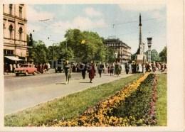 The Crossroad Of Lenin Street And Padomju Boulevard - Car Moskvich - Riga - 1961 - Latvia USSR - Unused - Latvia