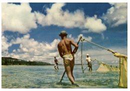 (M+S 890) Old Postcard - Carte Ancienne - USA Territory Of Guam - Local Fisherman - Guam