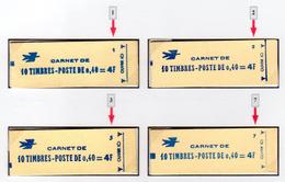 M. De Cheffer 0,40F (1536B**)  Les Quatre Carnets Provenant Des Confectionneuses 1, 2, 3 Et 7 - Usage Courant