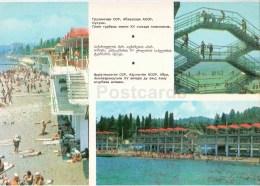 Beach - Sukhumi - Abkhazia - Postal Stationery - 1980 - Georgia USSR - Unused - Géorgie