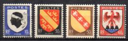 France   N° 755 à 758  Neuf  XX  MNH , Cote :  0,60 €  Au Quart De Cote - France