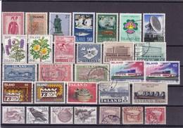 ISLANDE : Y&T : Lot De 30 Timbres Oblitérés - Collections, Lots & Séries