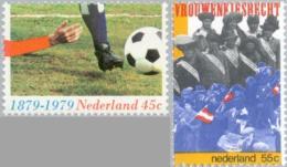 1979 Voetbal En Kiesrecht, Football, Soccer NVPH 1182+83 Postfris/MNH/** - 1949-1980 (Juliana)