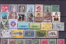 ISLANDE : Y&T : Lot De 33 Timbres Oblitérés - Collections, Lots & Séries