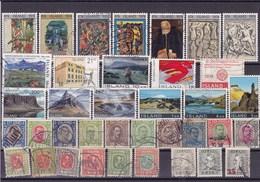 ISLANDE : Y&T : Lot De 37 Timbres Oblitérés - Collections, Lots & Séries