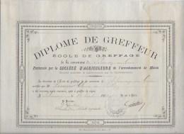 Diplome De Greffeur 1892 - Diploma & School Reports