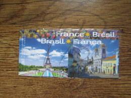 EMISSION COMMUNE SOUS BLISTER : FRANCE - BRESIL 2008 !!! - Sheetlets