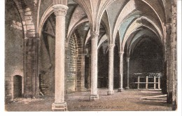 Publicité-pour Le Chocolat-Louit-sur Cpa Du Mont-saint-Michel (Manche)-La Salle Des Hôtes-pas Courante (voir Scan) - Werbepostkarten