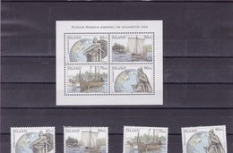 ISLANDE: Découverte De L'Amérique Du Nord Par Les Vikings: Y&T : 882** à 885 ** BF 26** - Collections, Lots & Séries