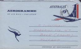 Australia Air Mail Postal Stationery Ganzsache Entier Aerogramme 9c. Aeroplane ENGADINE (NSW) To BEEK Holland