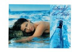 Cartes Parfumées Carte  DAVIDOFF COOL WATER WOMAN RECTO VERSO CARTE ALLEMANDE - Modern (vanaf 1961)