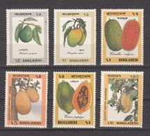 BANGLADESH, 1990 Fruits, 6 Values, Complete Set, MNH(**). - Bangladesh