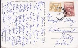 Argentina PPC Plaza Congreso Buenos Aires 1962 To Sweden Puma & Mendoza Puente Sellos (2 Scans) - Argentinien