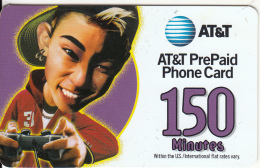 ALASKA - AT&T Prepaid Card 150 Min, Used - Phonecards