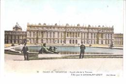 Publicité-pour Le Chocolat-Louit-sur Cpa De Versailles -Façade Côté De La Terrasse-cliché A.Bourdier (voir Scan) - Publicité