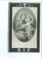 SAINT JOSEPH / JOANNES B J VANDENPEEREBOOM WED MARIA De LEPOUVE ° IEPER 1773 + 1873 KAMER KOOPHANDEL RIDDER LEOPOLD - Images Religieuses