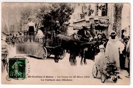 La Mi-carême à Salon: Corso Du 28 Mars 1909 - La Culture Des Oliviers - Salon De Provence