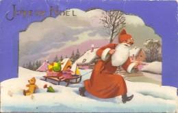 Cpa Joyeux Noel Pere Noel Carte A Systeme - Altri