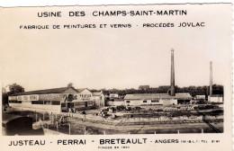 Angers ..l Usine Des Champs Saint Martin Procédés Jovlac Fabrique De Peintures Et Vernis Industrie Commerce - Angers