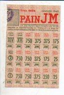 Guerre 1939-1945 - Tickets De Rationnement De Pain Janvier 1949 / Cachet Ville De Saint St Lô - Documents