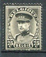 Yv. COB N° 384  ** MNH   75c Noir  Cote  1  Euro TBE  2 Scans - 1931-1934 Kepi