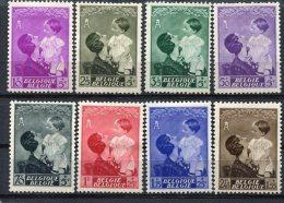 Yv. COB N° 447 à 454 Complet  *  Reine Astrid  Cote  14 Euro BE R  2 Scans - Belgium