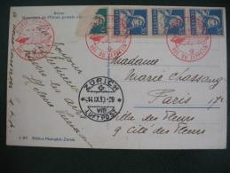 Carte Postale De Berne Suisse Pour Paris Par Zeppelin 14- IX -1930  - Airmail