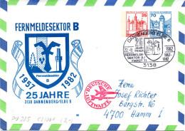 """BRD Privatganzsachenumschlag Bundeswehr Luftwaffe """"25 Jahre FERNMELDESEKTOR B - FMRGT 71"""" SSt 22.8.82 DANNENBERG - Buste Private - Usati"""