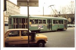 Photo Originale-Italia-Italie +/-1980-Tram-Tramway-ROME-ROMA Foto Di Un TRAMWAY Linea 14,-13x8,8cm - Treni