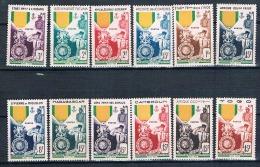 FRANCE COLONIES  Centenaire De La Médaille Militaire 12 Valeurs ** - 1952 Centenaire De La Médaille Militaire